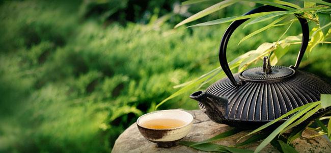A preparação do chá verde